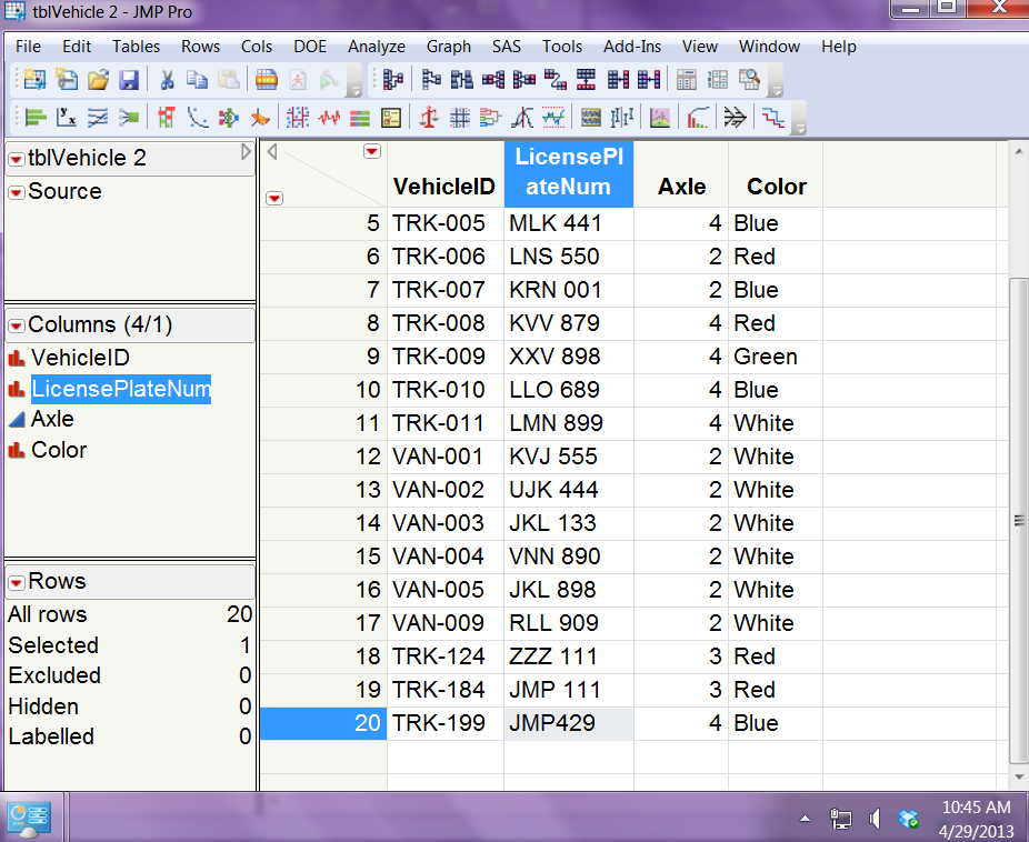 Using JMP to connect to database, insert records - JMP User
