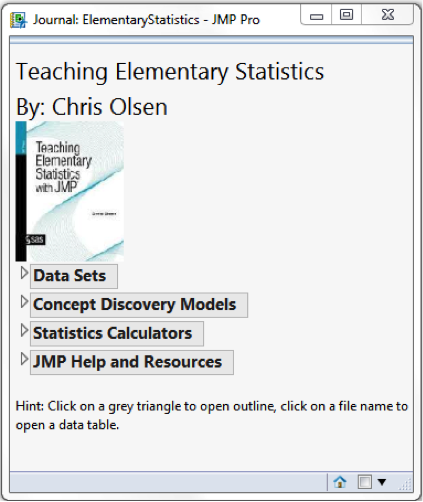 Building add-ins for classes and textbooks - JMP User Community
