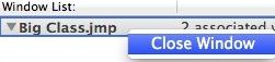 Close Window context menu item