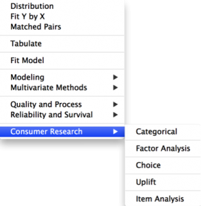 Consumer Research Menu