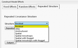 CS Structure with random subject effect and residual error