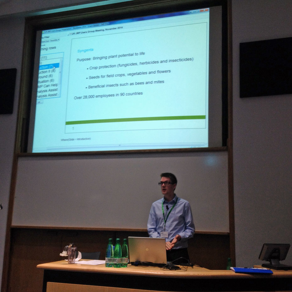 Stephen Pearson of Syngenta shows how he created his presentation slides in Graph Builder.