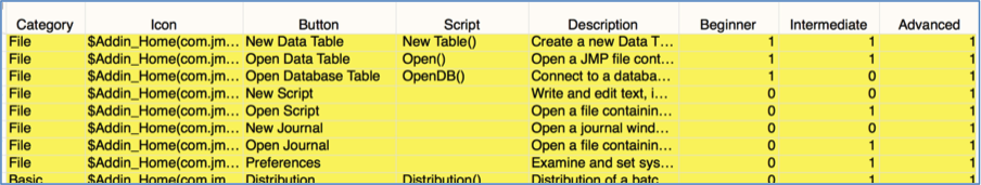 Menu Flags in Specifications File