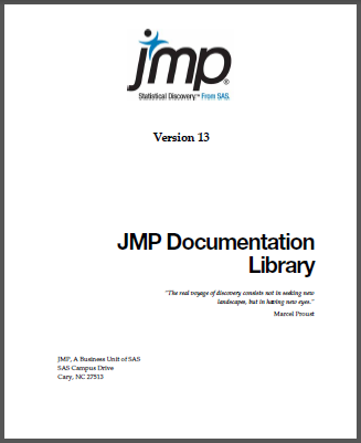 JMP Documentation Library PDF