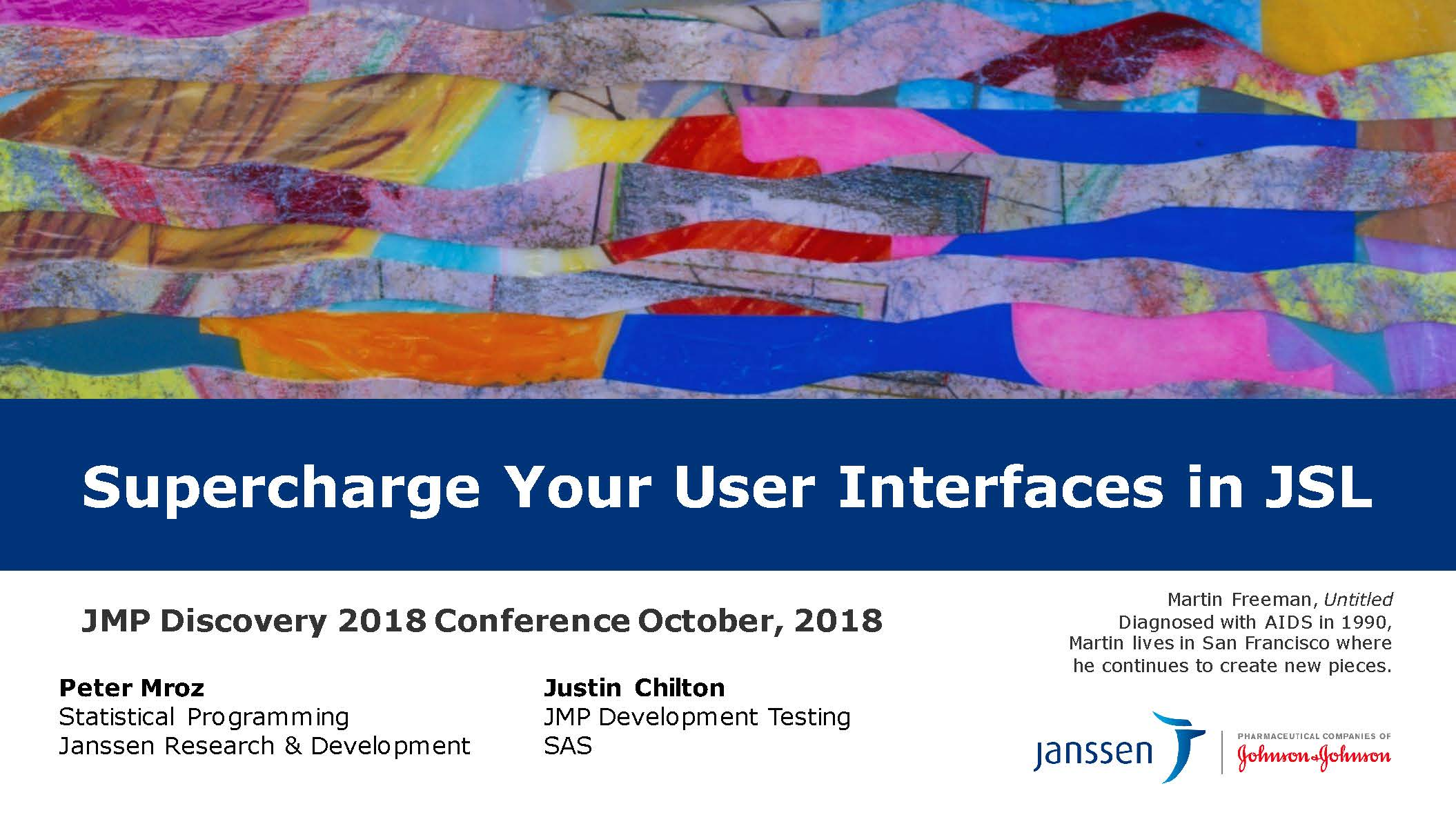 Supercharge Your User Interfaces in JSL ( US 2018 113 )