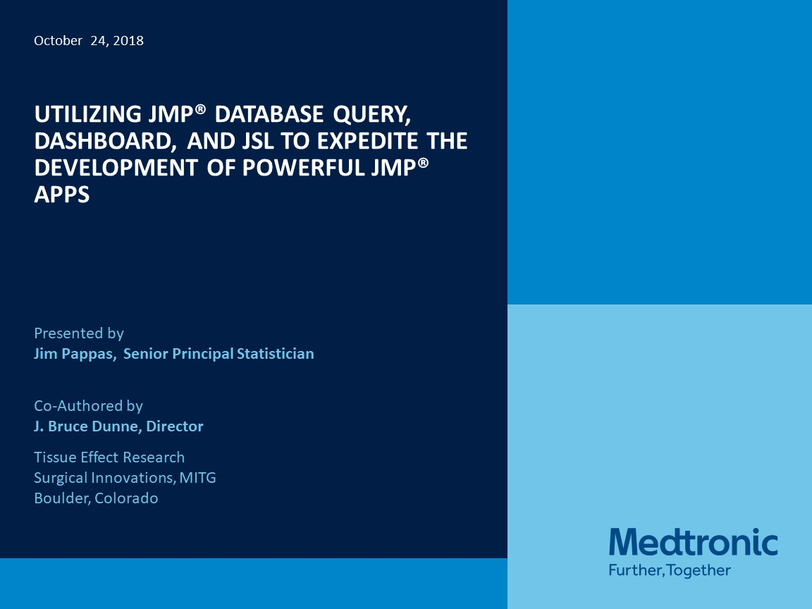 Utilizing JMP® Database Query, Dashboard, and JSL to …