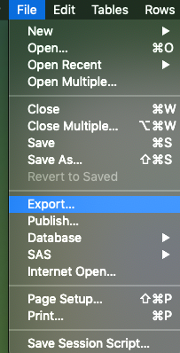 File >> Export