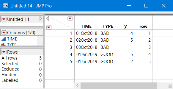 Your specified table layout - Row # column added