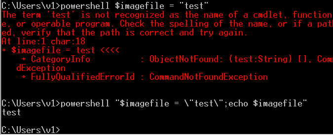 powershell output in a CMD window