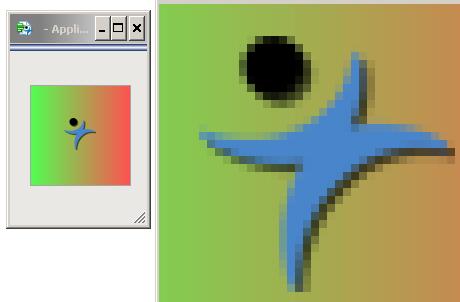 Alpha transparency around JMP's icon