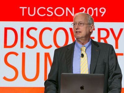 John Sall, chief architect of JMP, unveils the newest version of the software at Discovery Summit Tucson 2019.