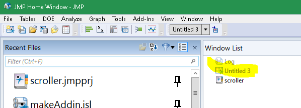 Grayed tables are opened without a window until you double click