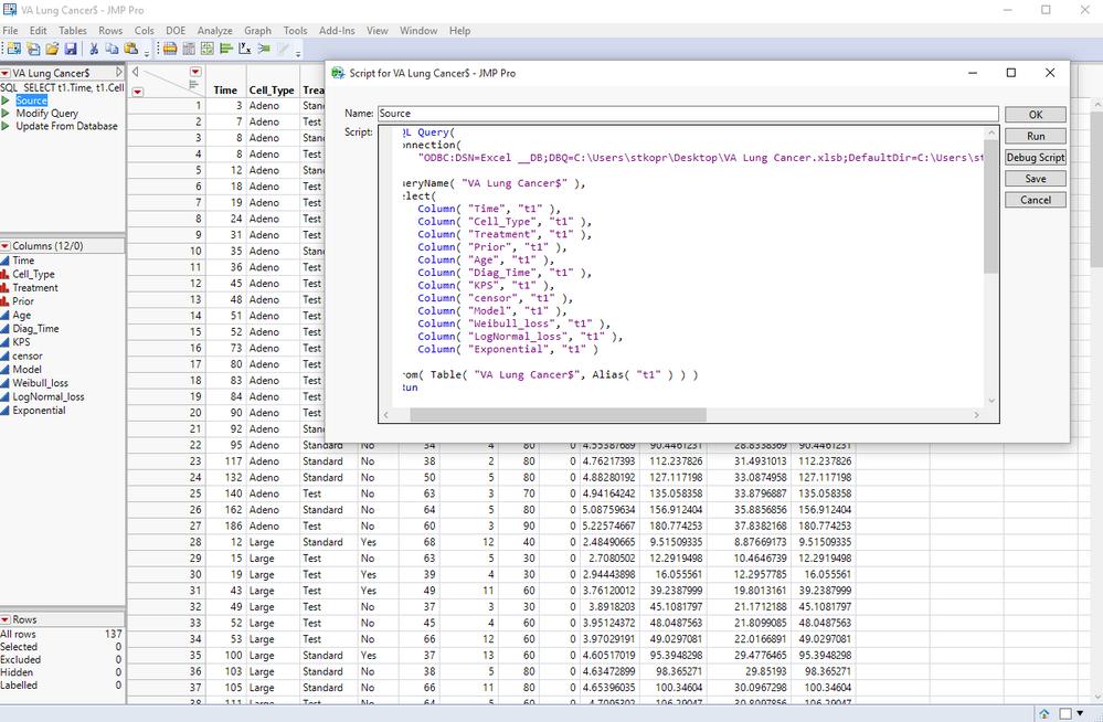 Import .xlsb file using JMP Query Builder