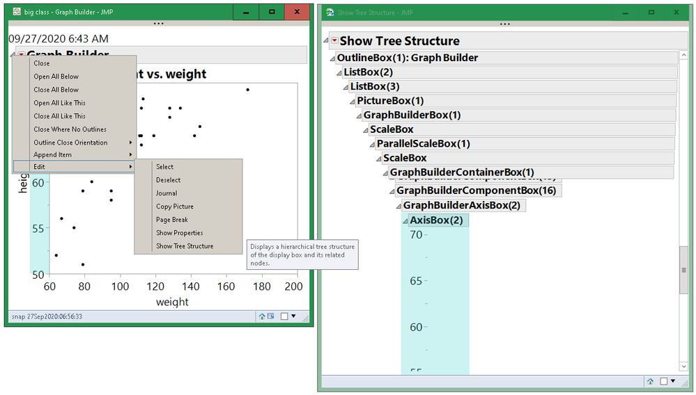Show Tree Structure: right-click on the open-close triangle.