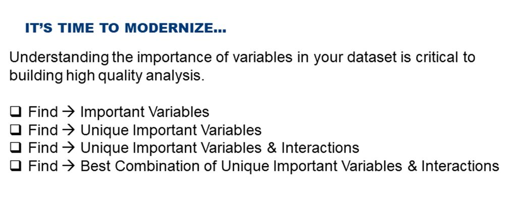 Identifying Important Variables in Your Data
