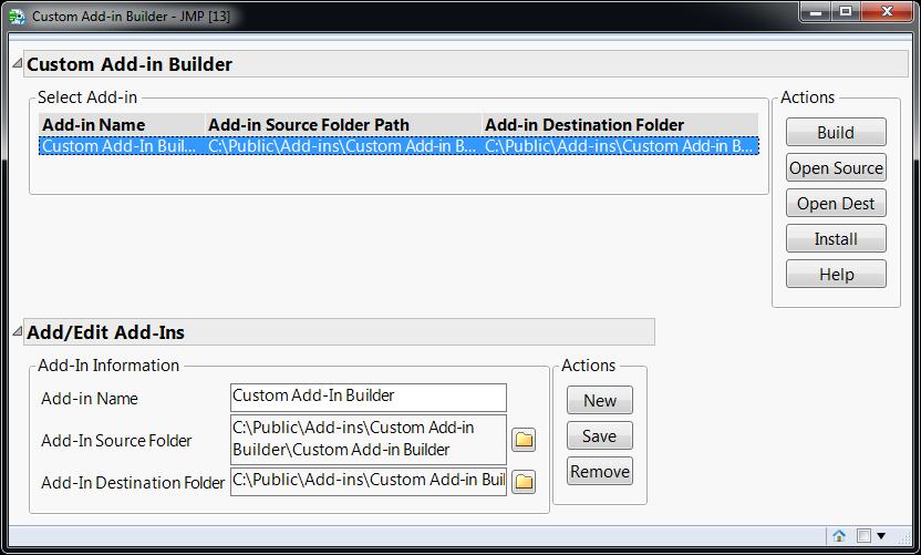 Custom Add-in Builder Screenshot