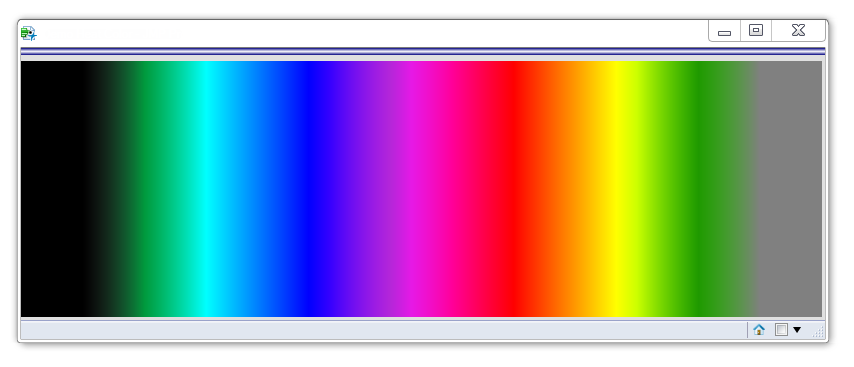 Showing the wash of color from Left to Right matching the color theme specification