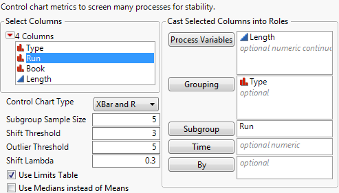 Process Screening Dialog
