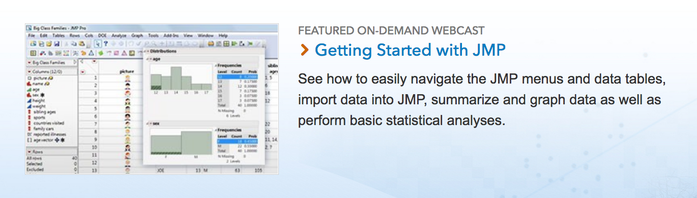 Getting Started with JMP Journals