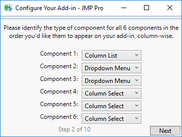 Step 2: Enter Component Types