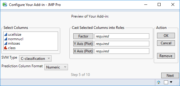 Step 5: Add-In User Interface Preview