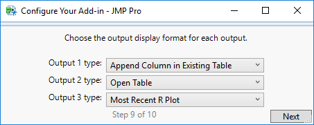 Step 9: Select Output Display Types