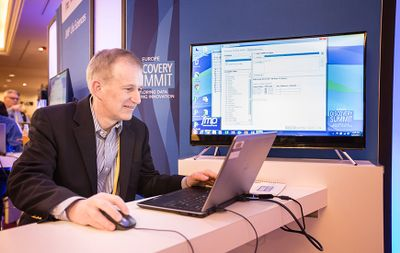 You can talk to Brian Corcoran during the Discovery Expo (in addition to hearing him speak about data preparation).