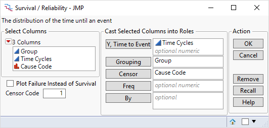Displaying at risk tables under kaplan meier - JMP User