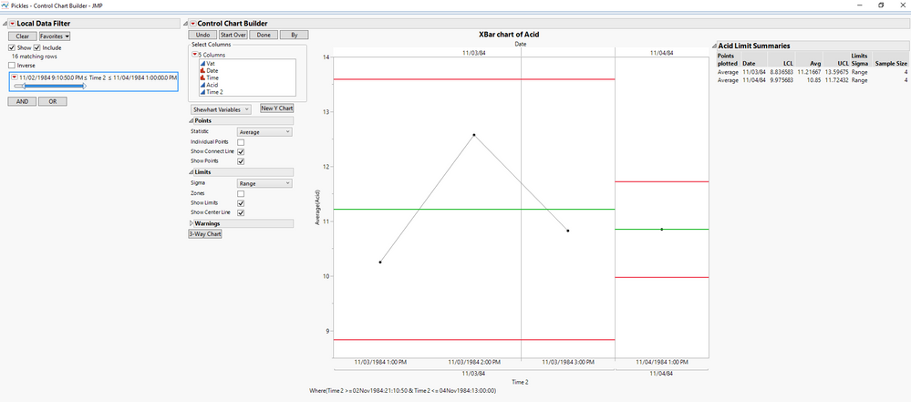 Solved: Date Filter on Control Chart - JMP User Community