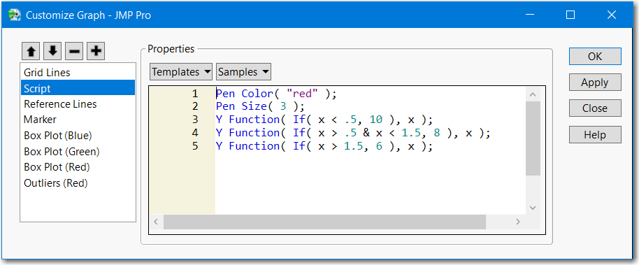 Figure 1 - Customize > Add Graphics Script