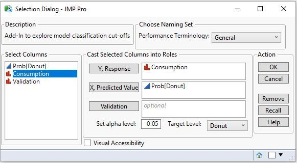 Data Selection Dialog
