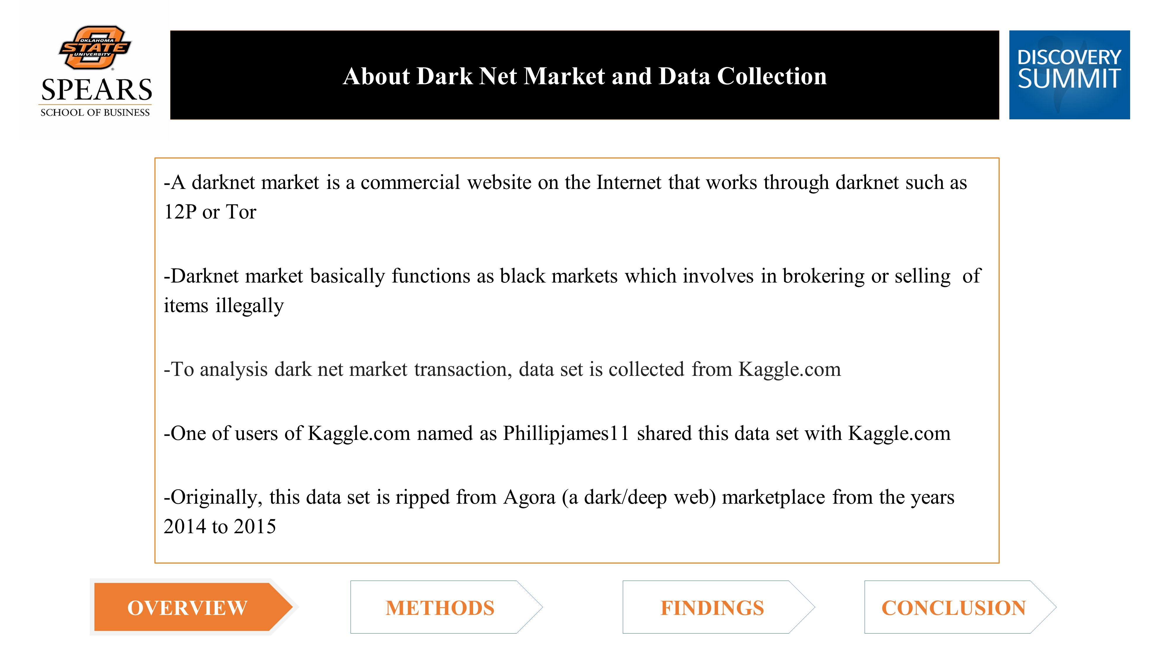 Analysis of Dark Net Market Transactions using JMP Pro 13