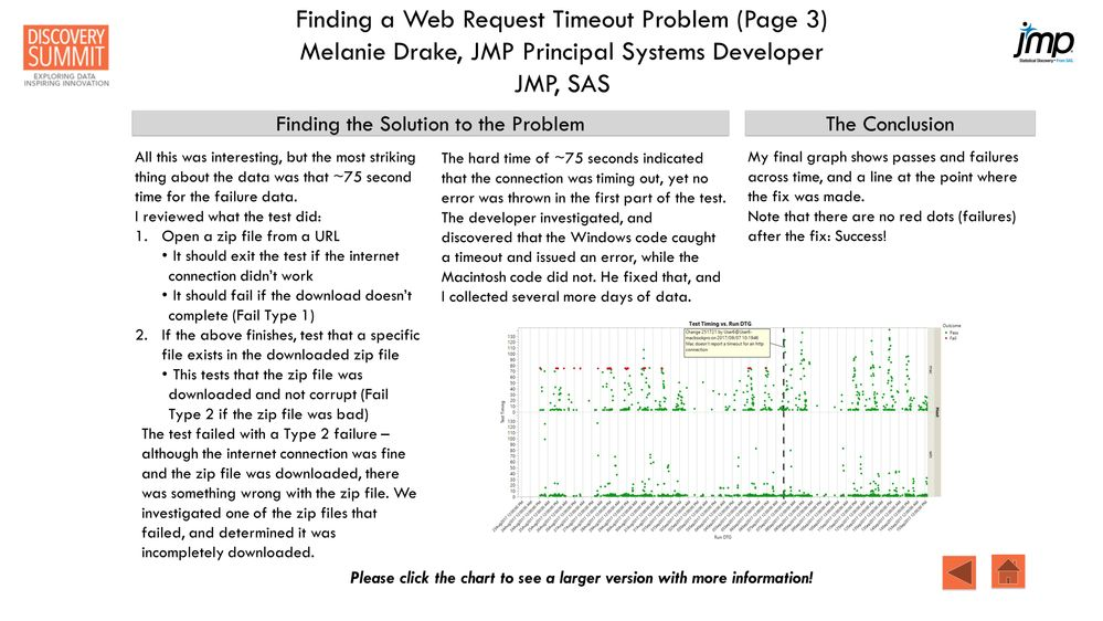 Poster: Finding a Web Request Timeout Problem - JMP User