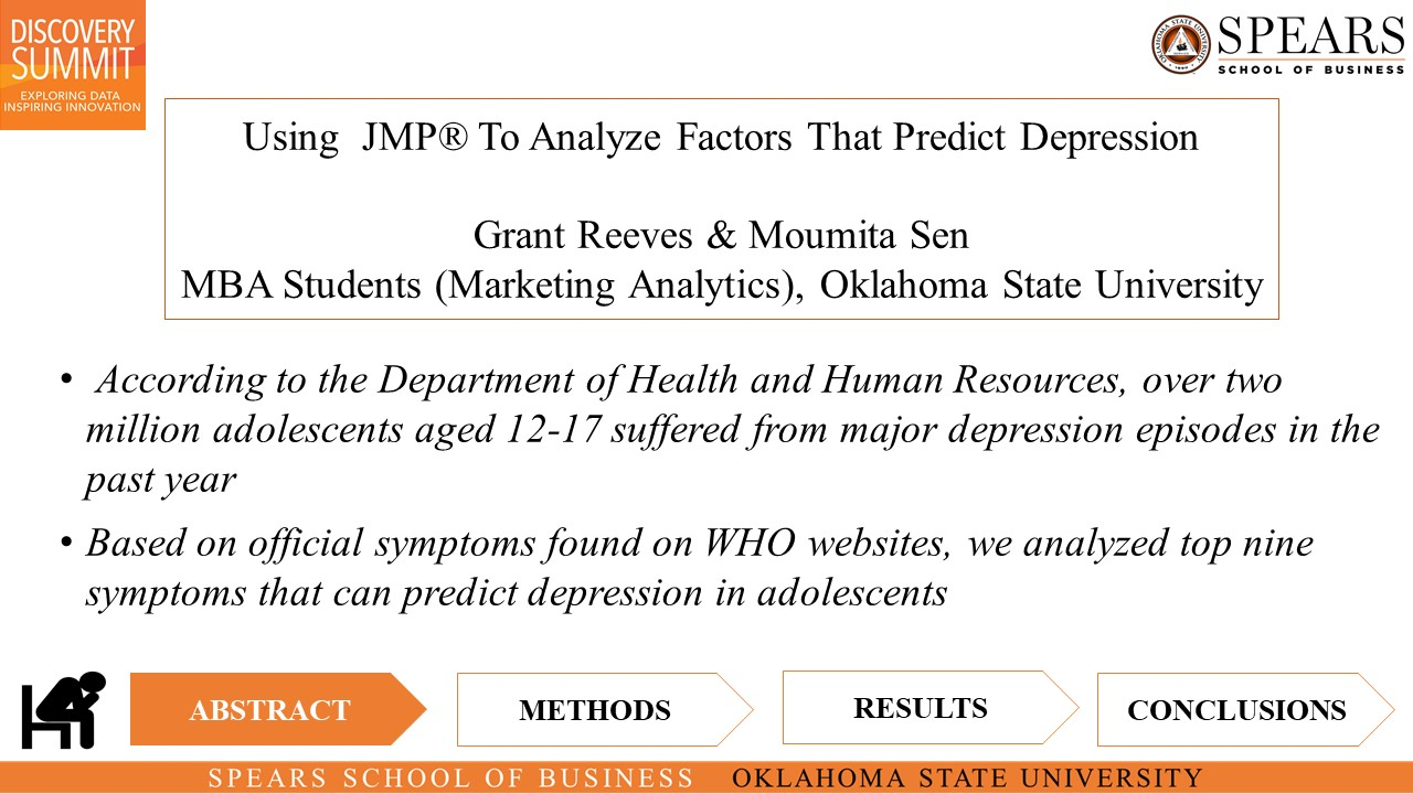 Using  JMP® To Analyze Factors That Predict Depression