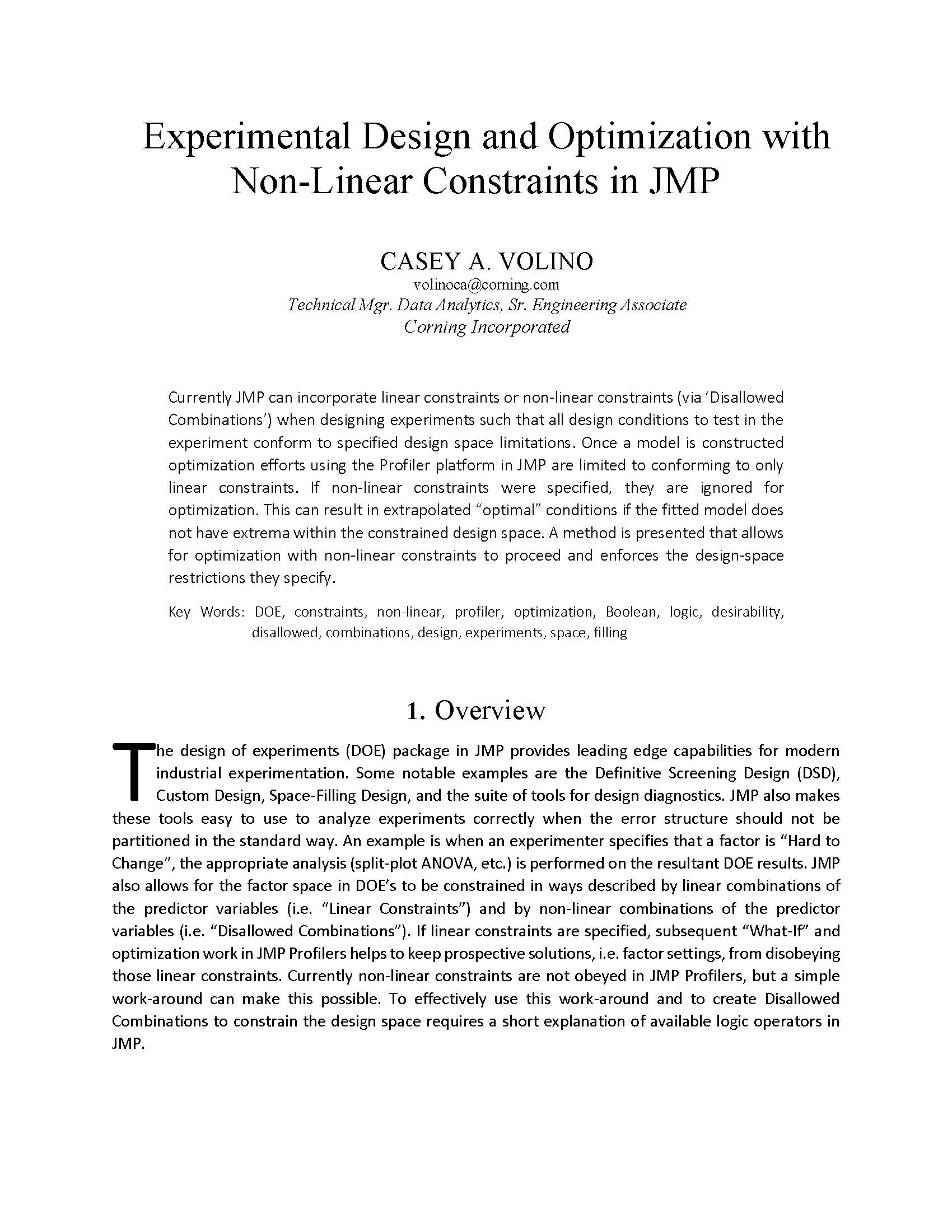 Design and Optimization With Nonlinear Constraints in …