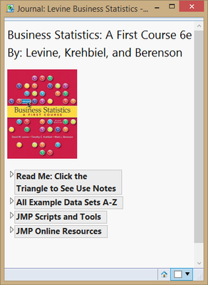 Textbook Add-In: Business Statistics - JMP User Community