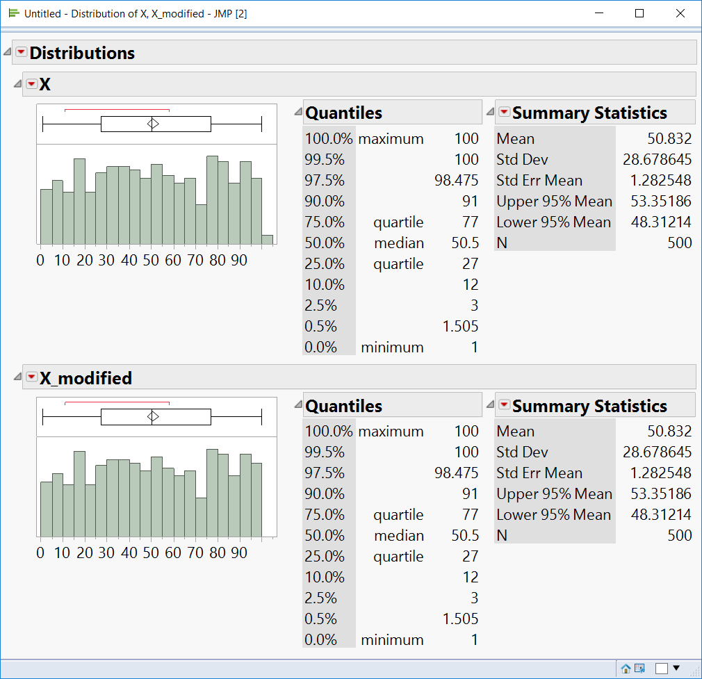 Distribution: how setting a maximum value for the bin? - JMP User Community