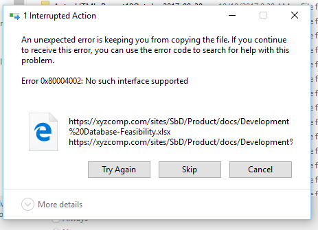 cant open excel file from sharepoint