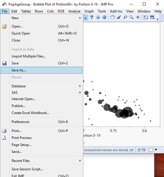 Solved: How to save JMP graph to interactive html file - JMP