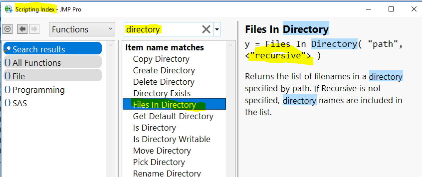 Solved: Is there way to search the files including the