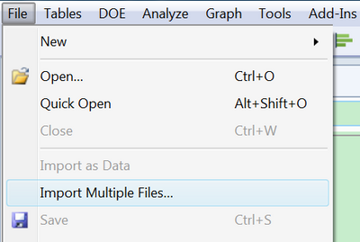 Solved: JMP14 How can i import multi excel files with
