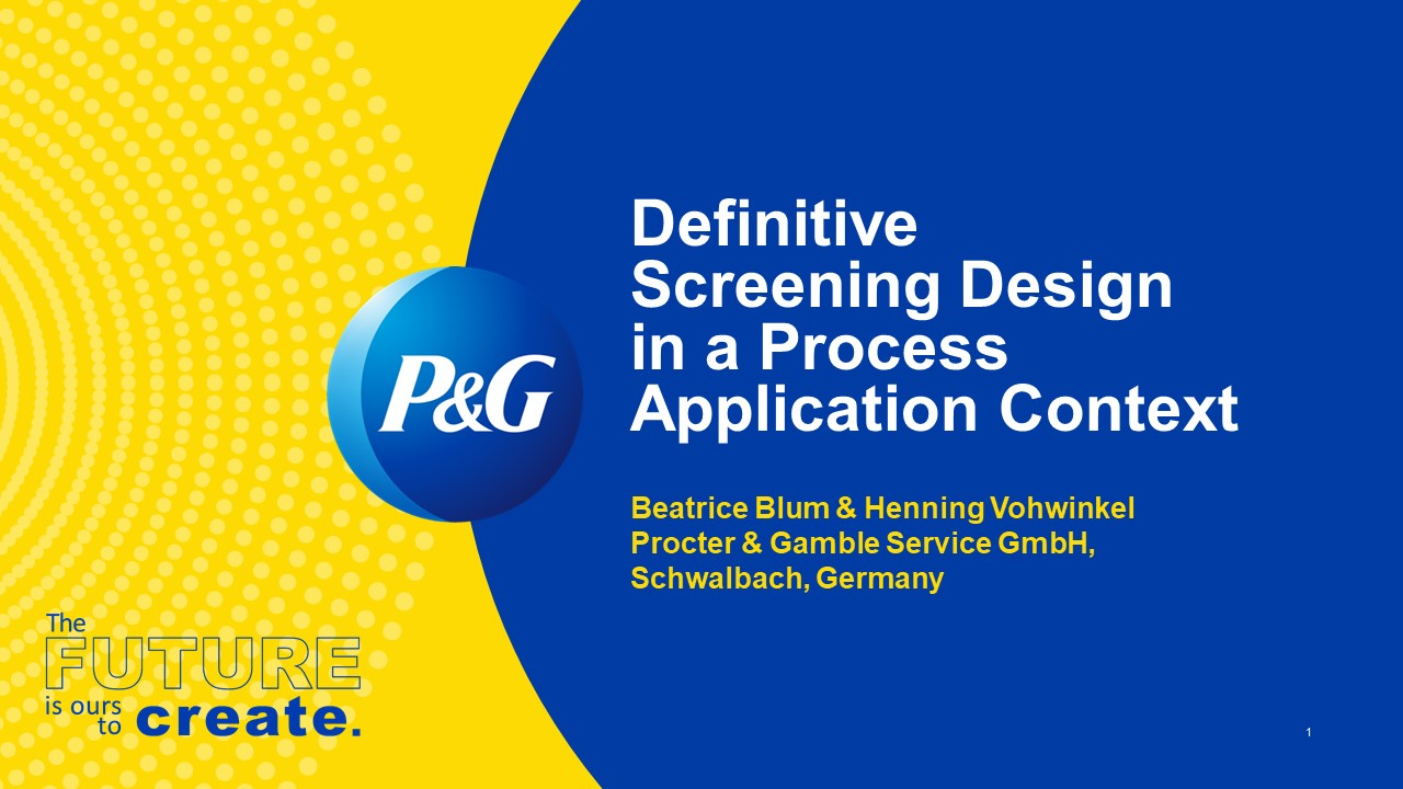 Definitive Screening Design (DSD) in a Hygiene Business