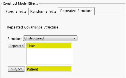 Unstructured Covariance Structure