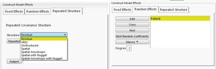 CS Covariance Structure with random subject effect and residual error