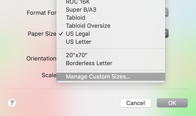 Solved: How to customize Paper Size in Page Setup to