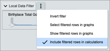 Figure 6. Data Filter Include/Exclude Menu