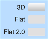Figure 2. 3D, Flat, and Flat 2.0 Styles