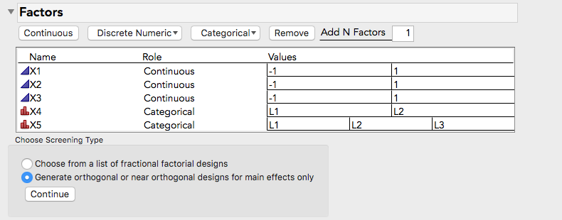 Solved Fractional Factorials With Categorical 2 Level And 3 Level Factors Jmp User Community