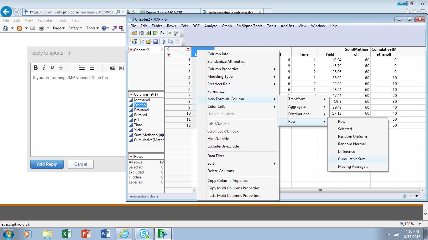 Solved: help creating a column that is a cumulative sum