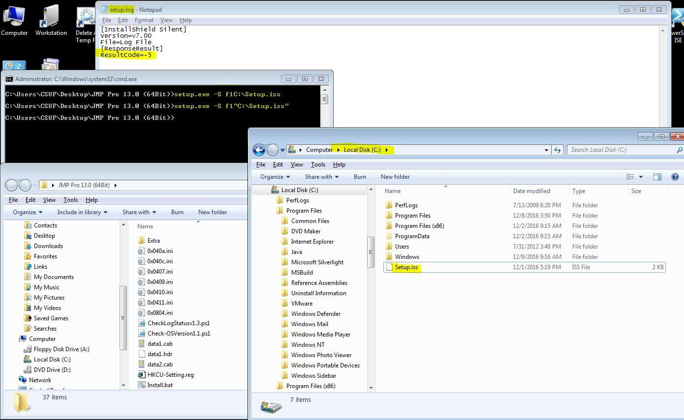 JMP Pro Silent installation issues - JMP User Community